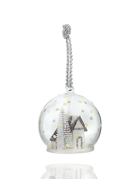 House in Glass Christmas Bauble