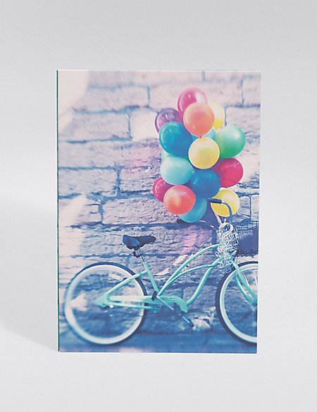 Geometric A5 Exposed Spine Bicycle Notebook
