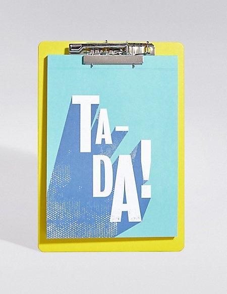 Geometric Ta-Da Notebook & Clipboard