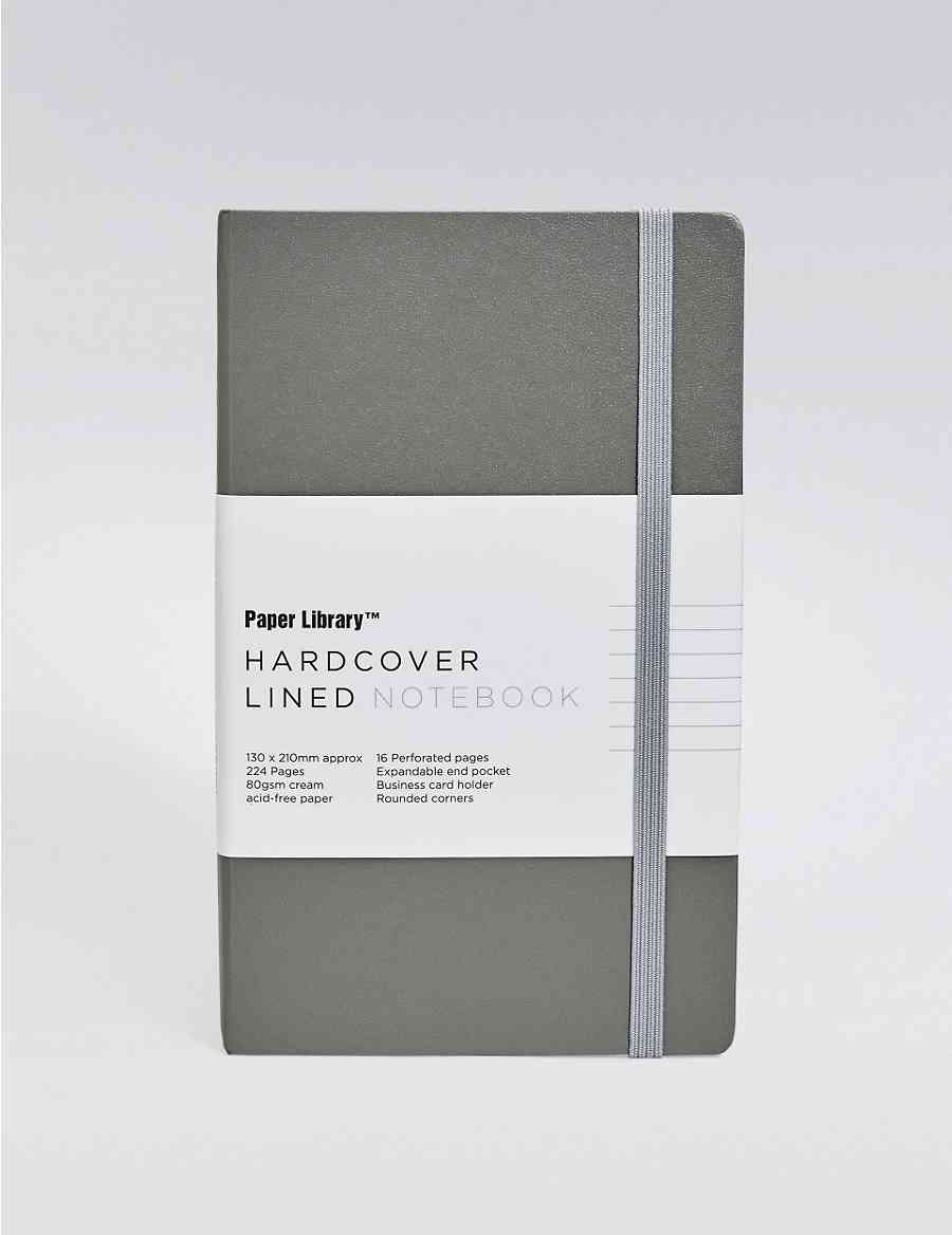 Pippa Grey Hardcover A5 Notebook Paper Library Ms
