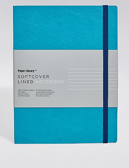 Vintage Style Blue Softcover B5 Notebook