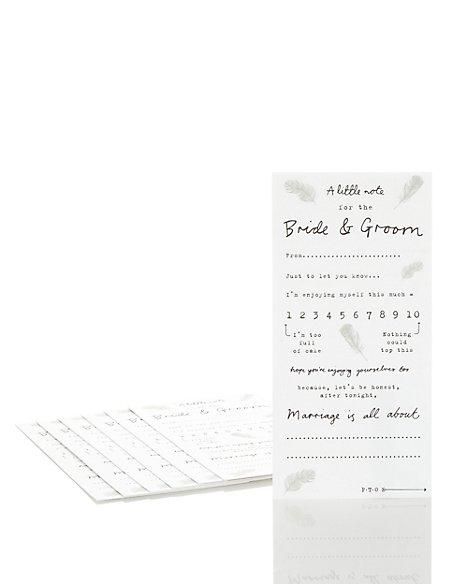 Bride & Groom Guest Notes