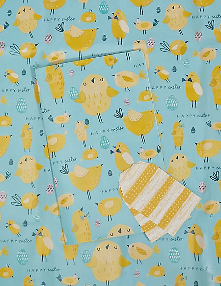 2 Chicks & Eggs Sheet Wrapping Paper