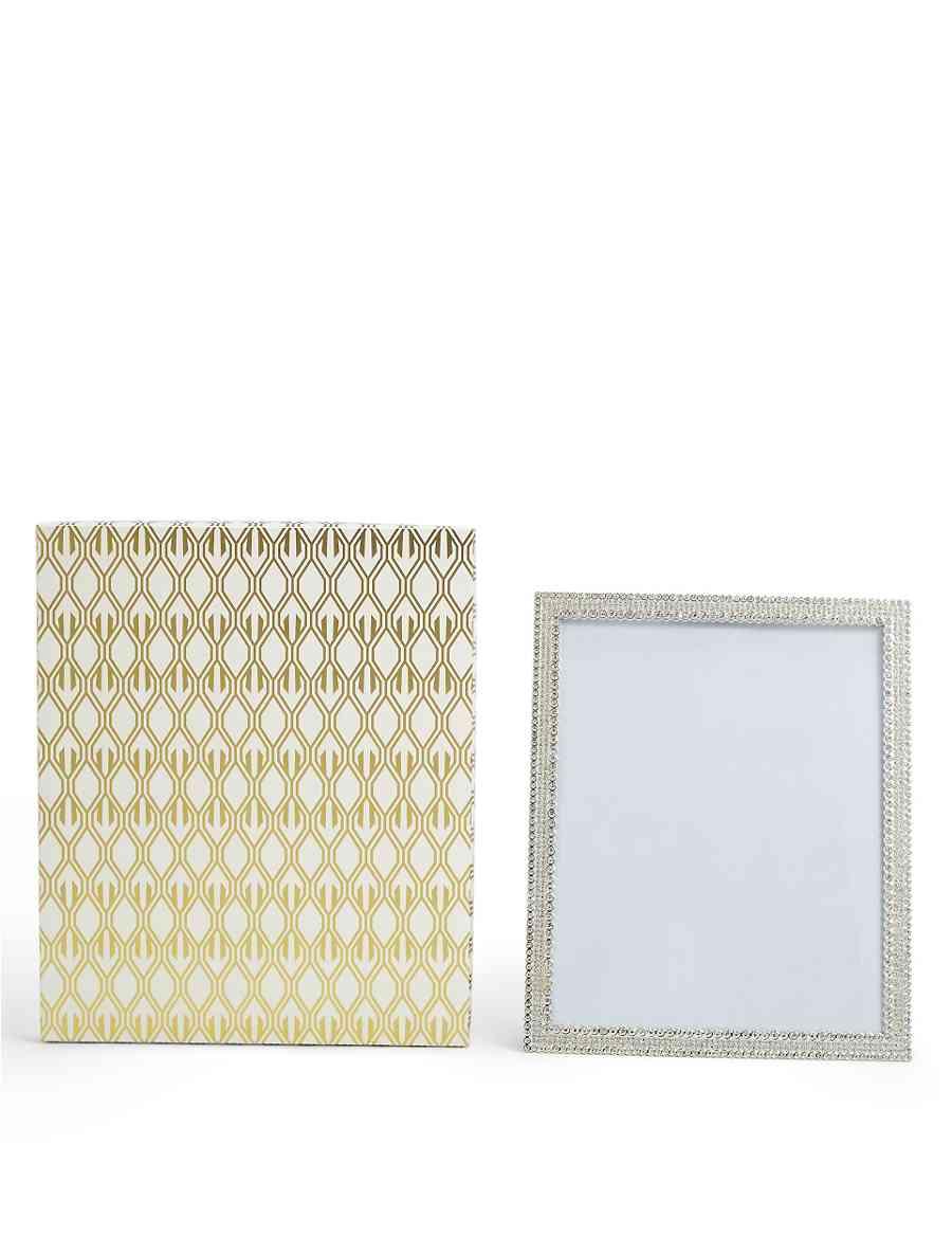 Boxed Natalie Diamante Frame 20 x 25cm (8 x 10inch) | M&S