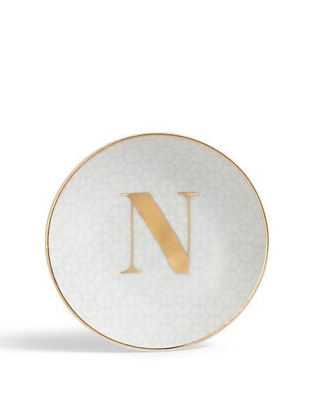Letter N Trinket Tray