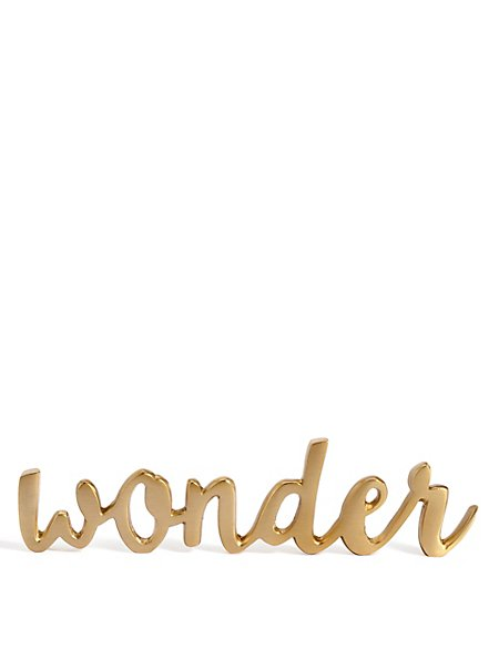 Decorative Wonder Sign