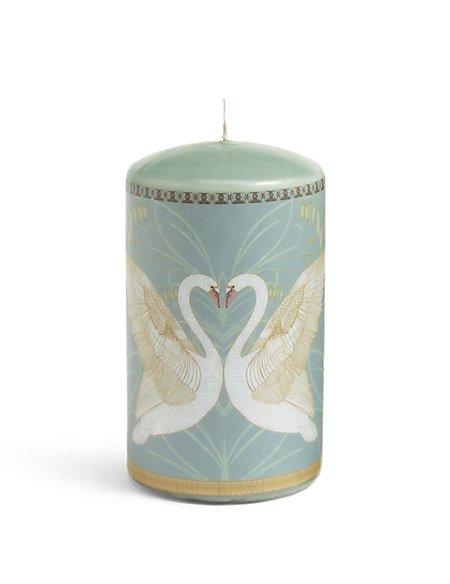 Medium Deco Swan Pillar Candle