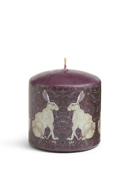 Short Hare Pillar Candle