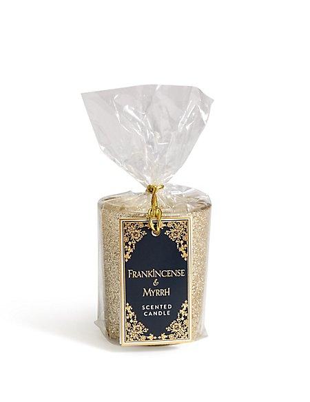 Frankincense & Myrrh Glitter Gift Candle