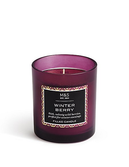 Winter Berry Filled Candle