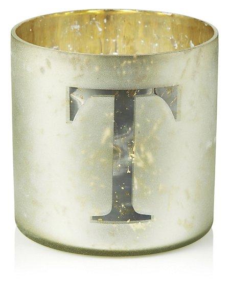 Mercury Glass Votive T Tea Light Holder