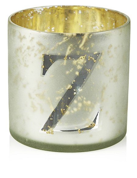 Mercury Glass Votive Z Tea Light Holder