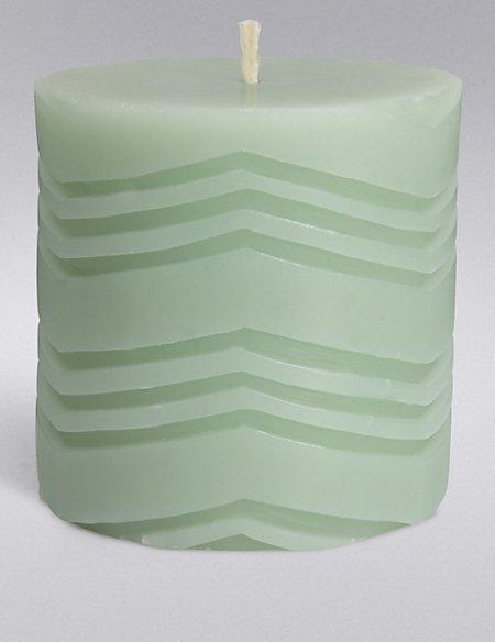 Short Geometric Pillar Candle