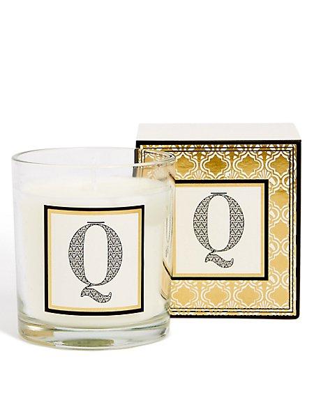 Alphabet Scented Candle Q