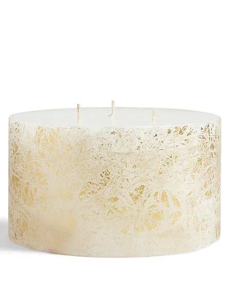 3 Wick Gold Leaf Candle