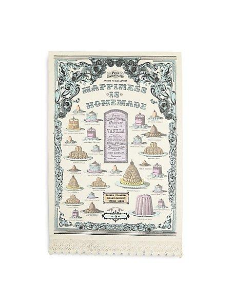 Vintage Bake Happiness Tea Towel
