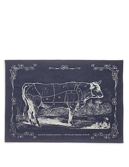 Butchers Print Tea Towel