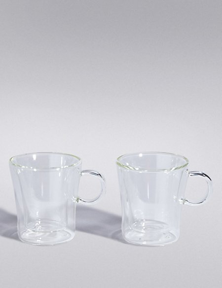 2 Double Walled Espresso Beaker