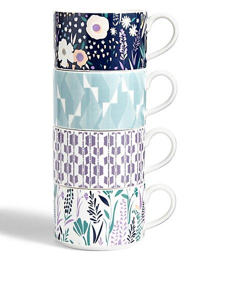4 Stacker Floral Mug