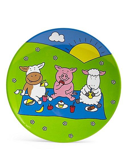 Percy Pig Melamine Side Plate