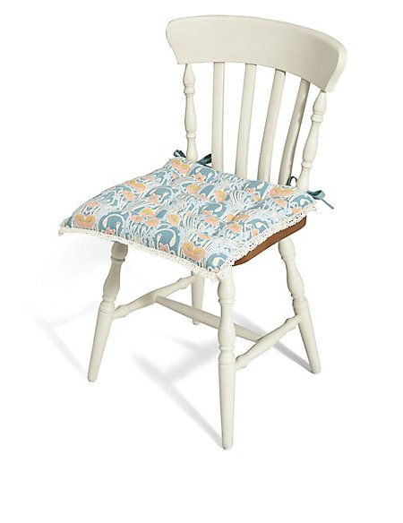 Ornate Floral Print Seat Pad