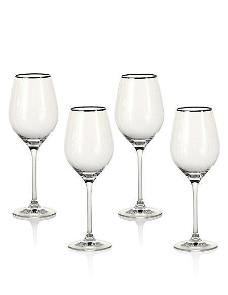 4 Pack Maxim Platinum White Wine Glasses