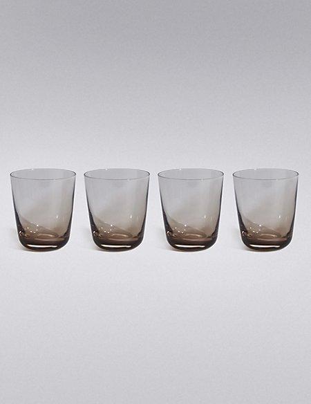 4 Tribeca Stacking Tumbler Glasses