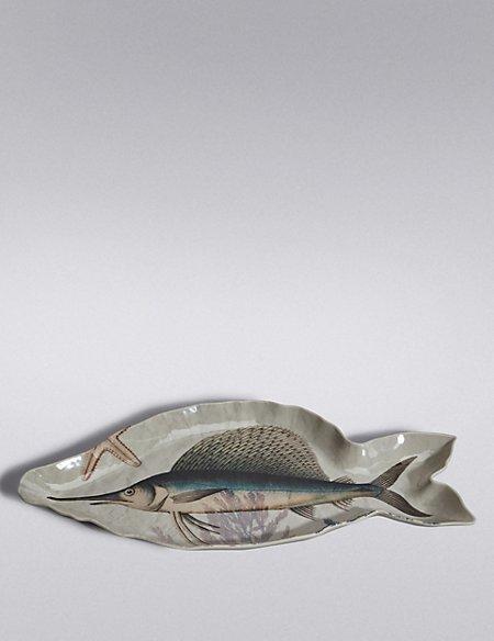 Nautical Fish Melamine Platter