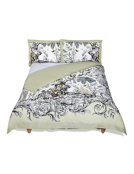 Botanical Etching Print & Embroidered Bedding Set