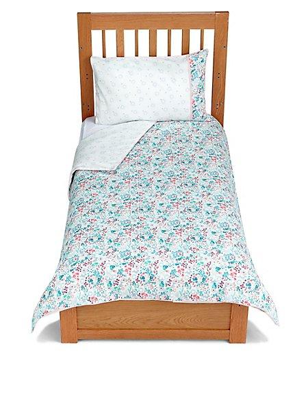 Floral Bunny Cot Bedding Set