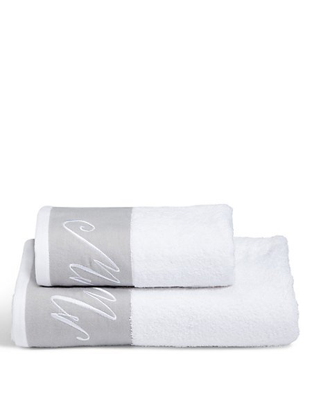 Mr Embroidered Towel