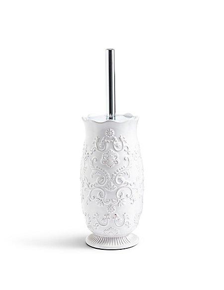 Fiorella Embossed Toilet Brush Holder