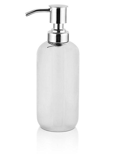 Sleek Chrome Plated Soap Dispenser