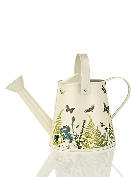 Small Botanical Printed Watering Can