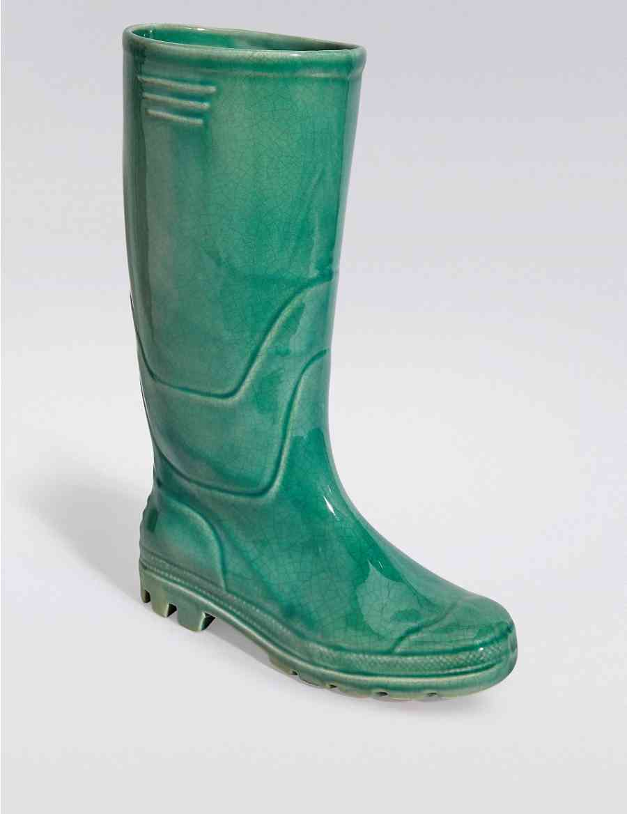 Large Single Ceramic Boot Planter M S