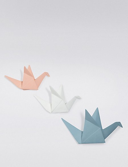 3 Origami Swans Wall Mount Loft Ms