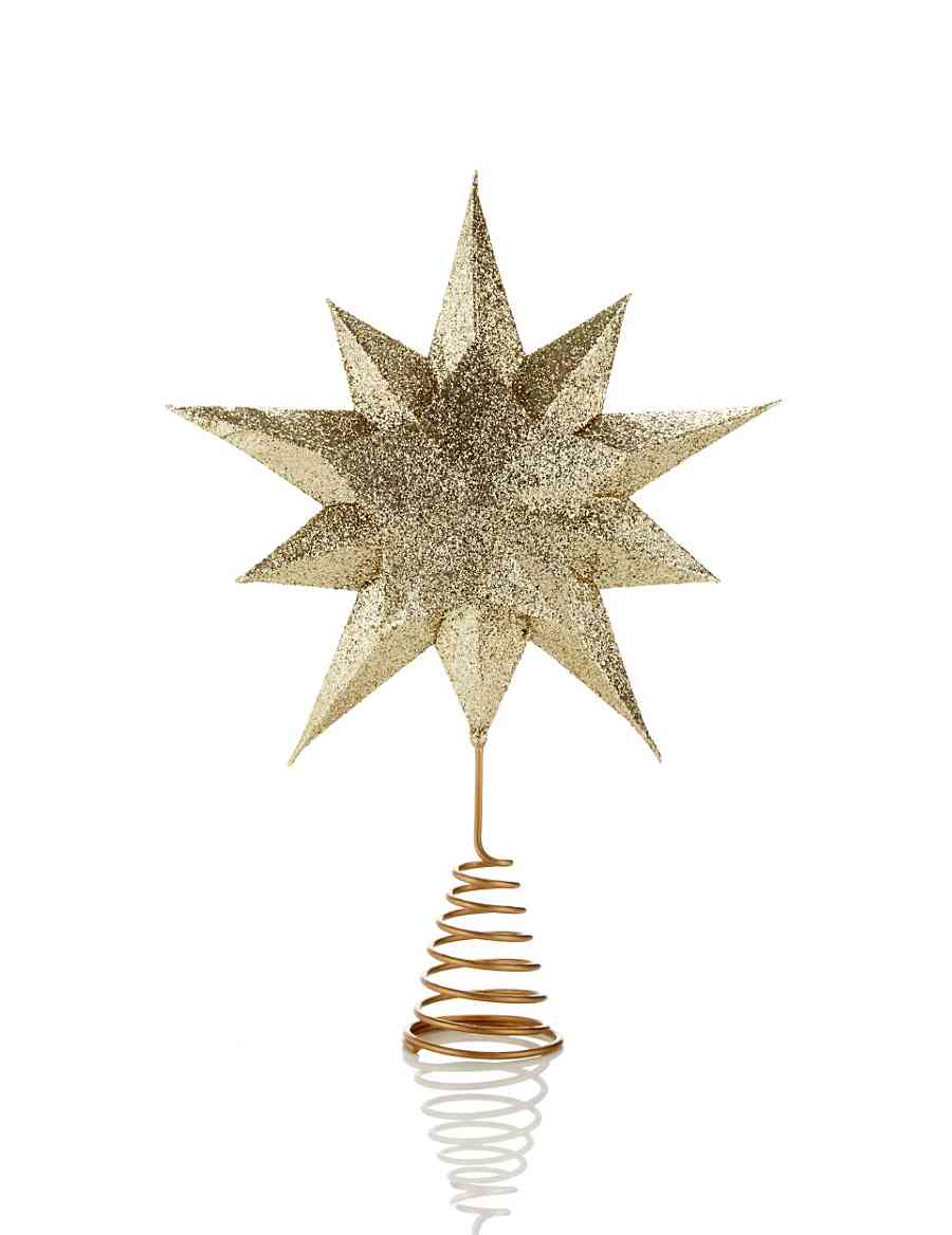 Gold Star Christmas Tree Topper | M&S