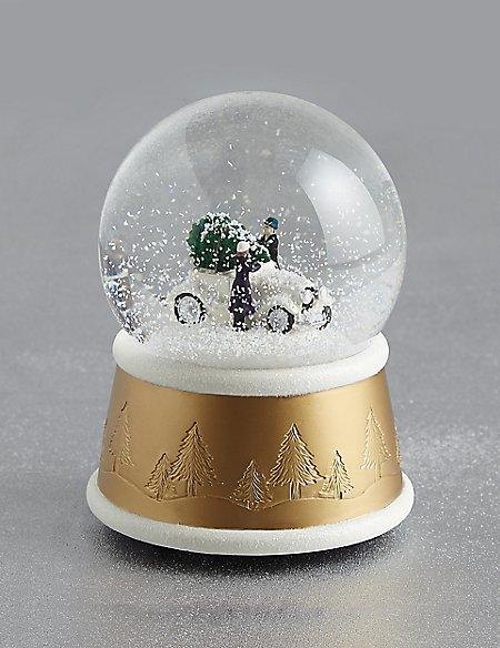 driving home christmas musical snow globe - Christmas Musical Snow Globes