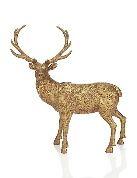 3D Resin Stag Christmas Decoration