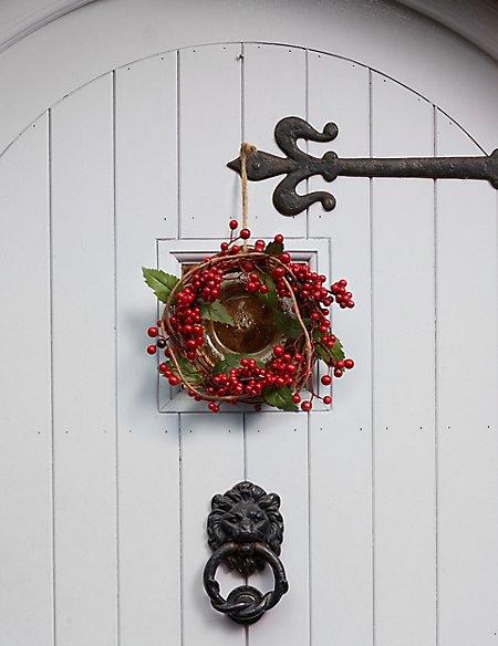 mini merry berry christmas wreath - Horseshoe Christmas Wreath