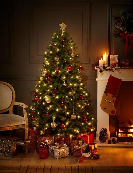 6ft Traditional Pre-Lit Christmas Tree