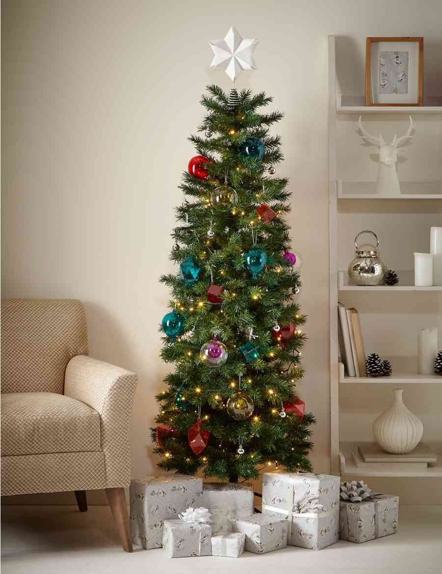 6Ft Slim Christmas Tree | M&S