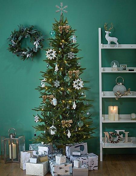 7ft Lit Slim Christmas Tree