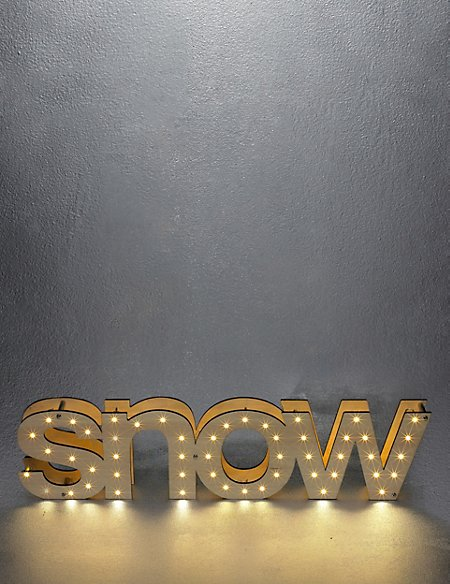 Snow Light Up Letters
