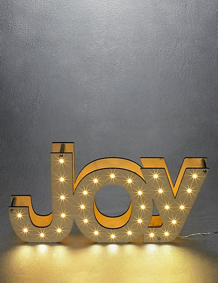 Joy Light Up Letters