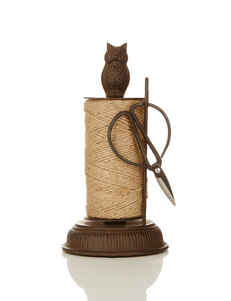 Cast Iron Owl Twine Dispenser