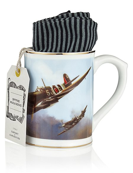 Digital Plane Mug & Socks