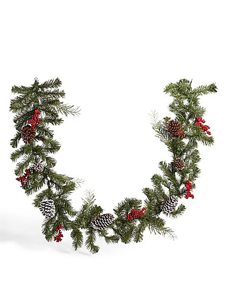 6ft Red Berry Pinecone Garland