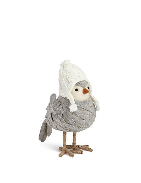 Felt Grey Breast Robin