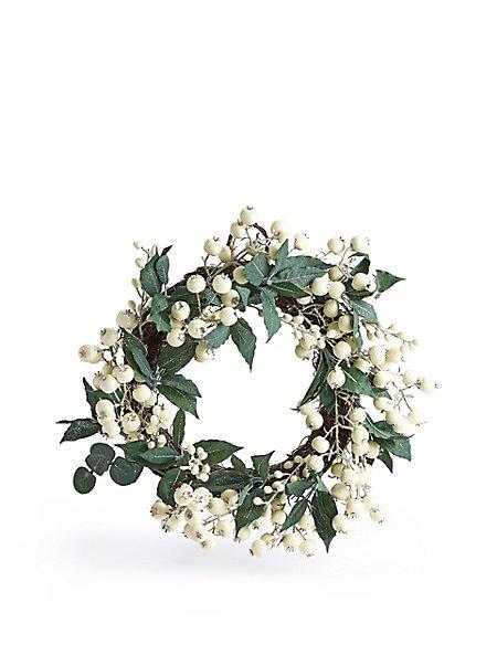 20 inch White Berry Wreath